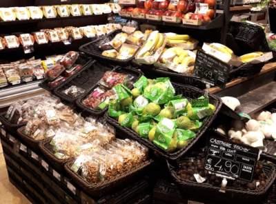 Allestimento settore frutta e verdura della grande distribuzione GDO